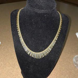 Genuine 14Karat Gold Spiked Necklace